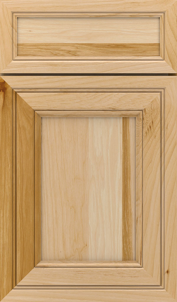 Braydon Manor 5-Piece Hickory Flat Panel Cabinet Door in Natural