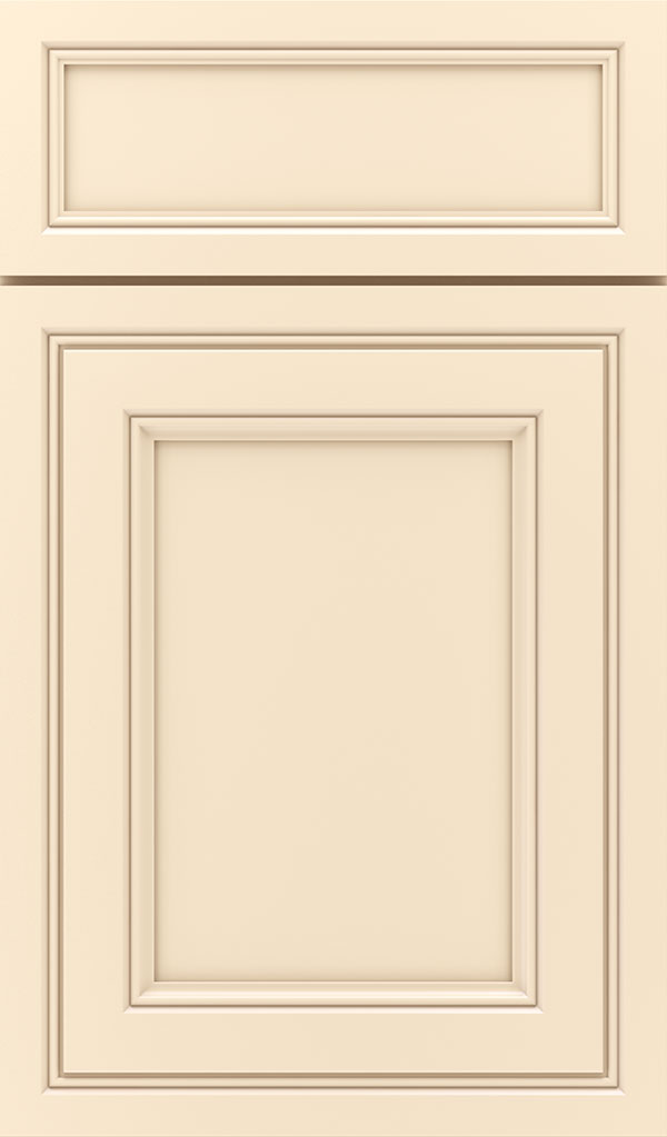 Braydon Manor 5-Piece Maple Flat Panel Cabinet Door in Jasmine