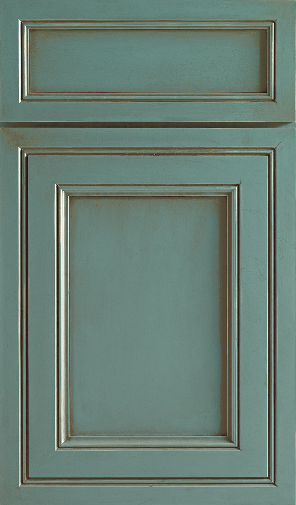 Braydon Manor 5-Piece Maple Flat Panel Cabinet Door in Turquiose