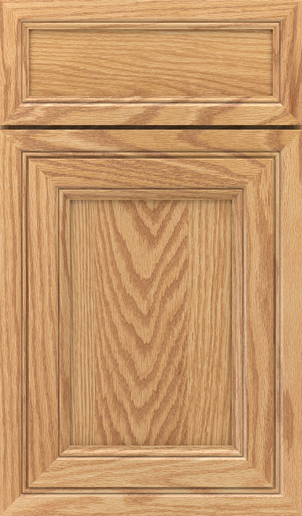 Braydon Manor 5-Piece Oak Flat Panel Cabinet Door in Natural