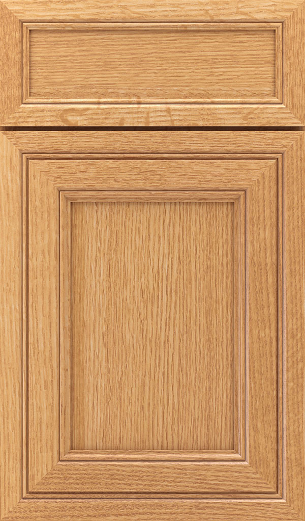 Braydon Manor 5-Piece Quartersawn Oak Flat Panel Cabinet Door in Natural