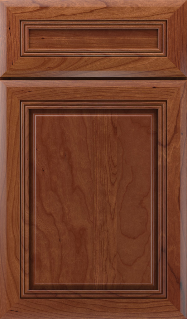 Cambridge 5-Piece Cherry Raised Panel Cabinet Door in Brandywine