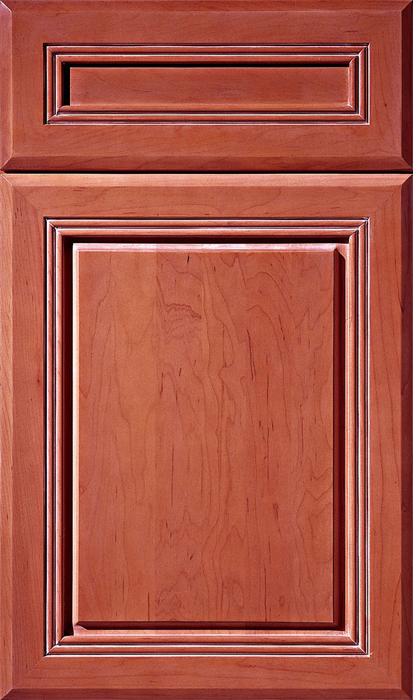 Cambridge 5-Piece Cherry Raised Panel Cabinet Door in Coriander Coffee