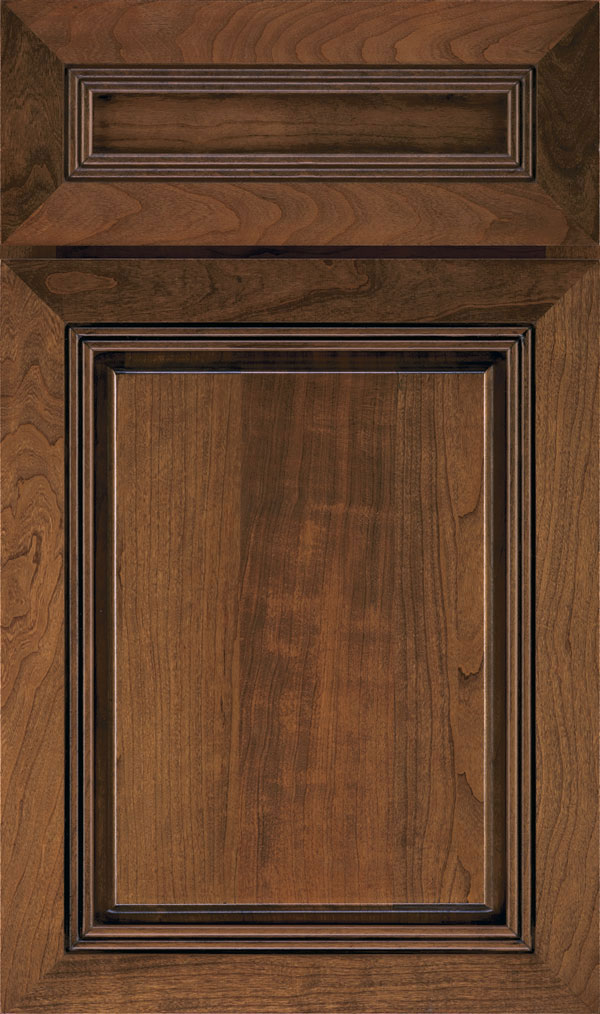 Cambridge 5-Piece Cherry Raised Panel Cabinet Door in Mink Espresso
