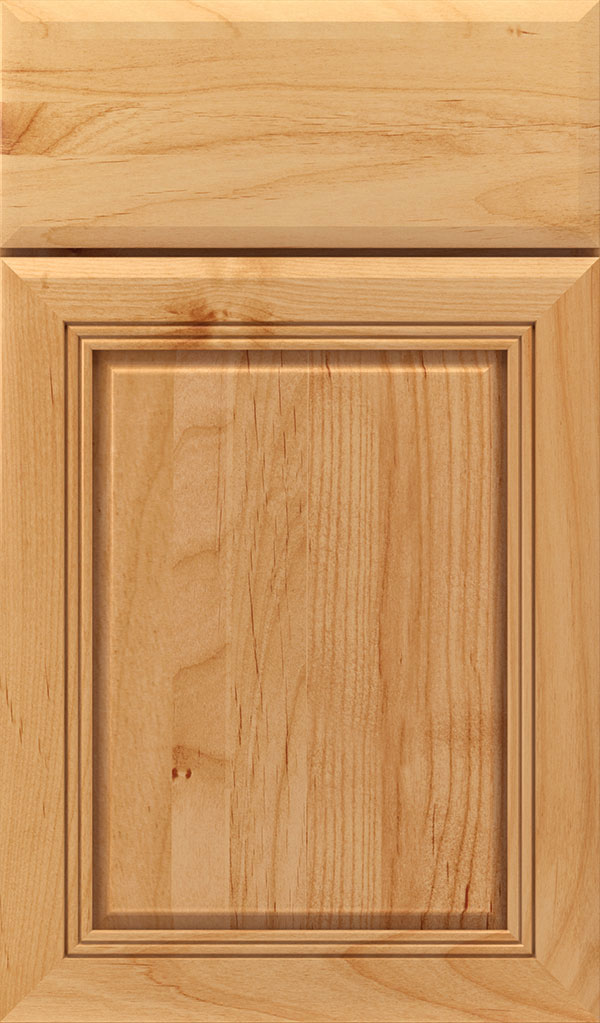 Cambridge Alder Raised Panel Cabinet Door in Natural