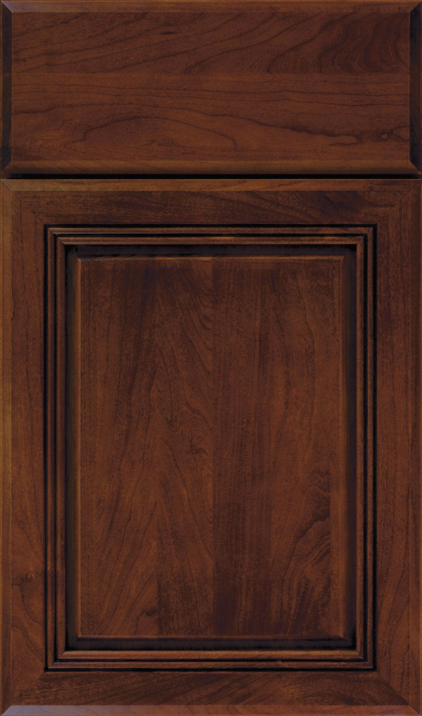 Cambridge Cherry Raised Panel Cabinet Door in Arlington Espresso