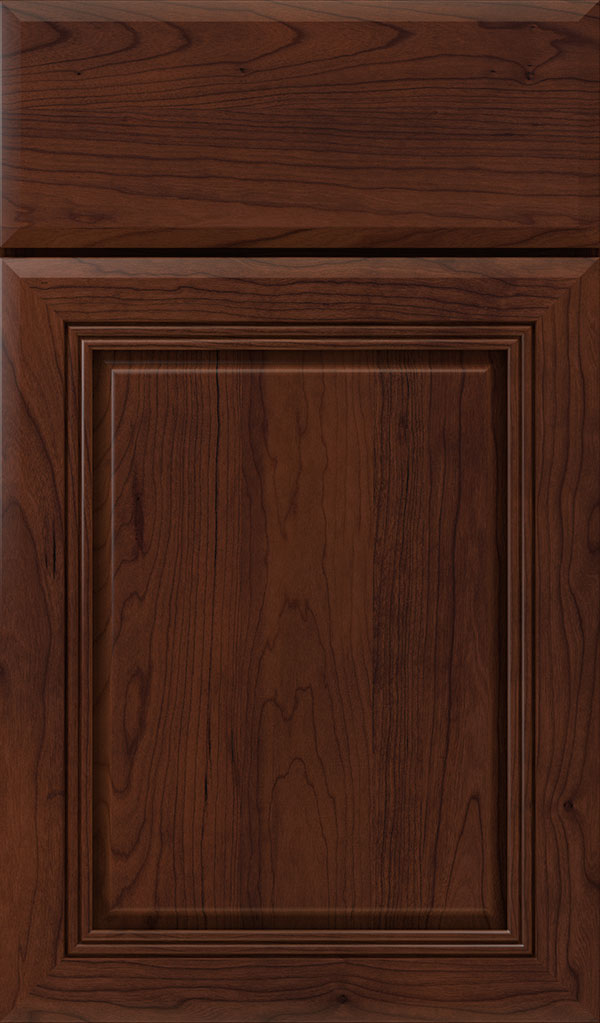 Cambridge Cherry Raised Panel Cabinet Door in Sepia