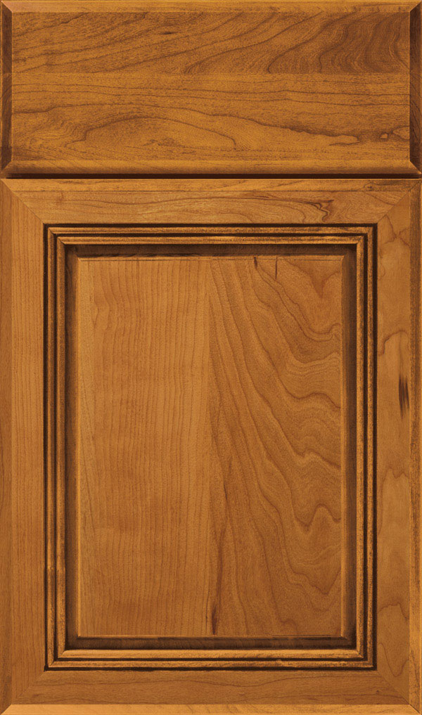 Cambridge Cherry Raised Panel Cabinet Door in Wheatfield Bronze