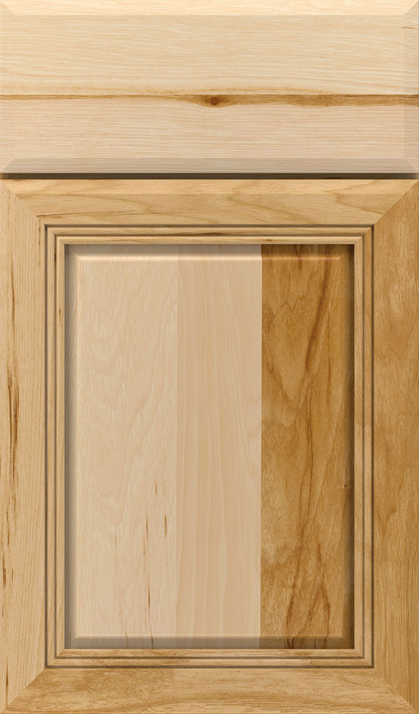 Cambridge Hickory Raised Panel Cabinet Door in Natural