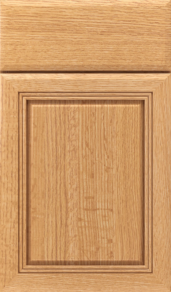Cambridge Quartersawn Oak Raised Panel Cabinet Door in Natural