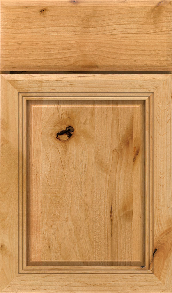 Cambridge Rustic Alder Raised Panel Cabinet Door in Natural