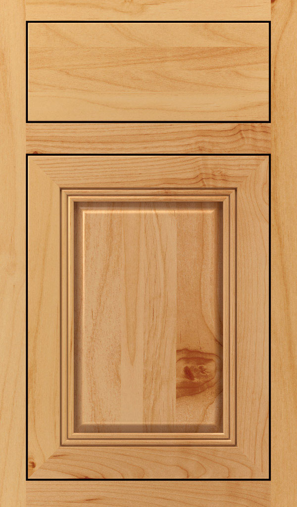 Cambridge Alder Inset Cabinet Door in Natural