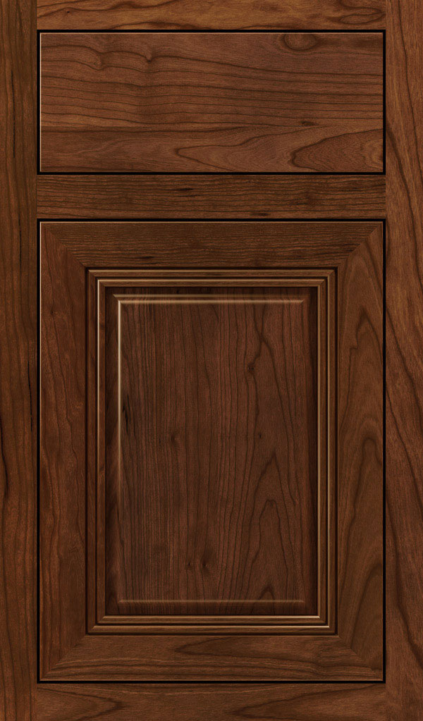 Cambridge Cherry Inset Cabinet Door in Arlington Espresso
