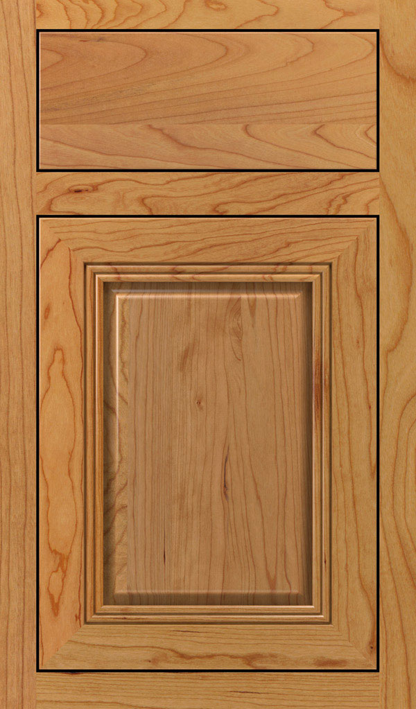 Cambridge Cherry Inset Cabinet Door in Natural