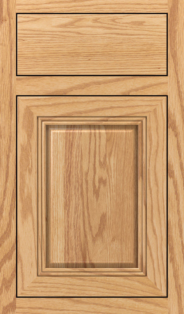 Cambridge Oak Inset Cabinet Door in Natural