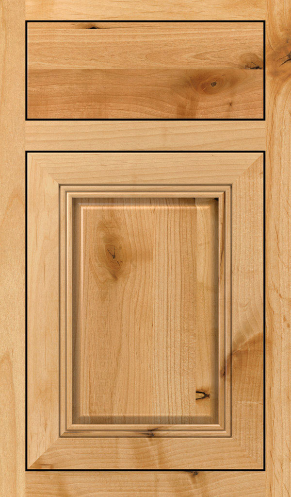Cambridge Rustic Alder Inset Cabinet Door in Natural