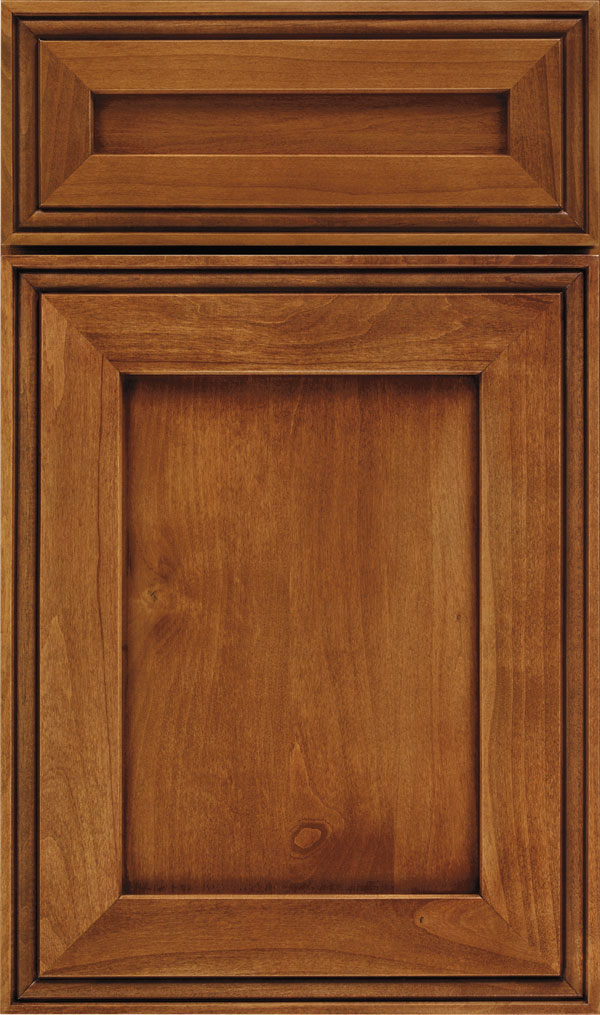 Daladier 5-Piece Alder Recessed Panel Cabinet Door in Coriander Coffee