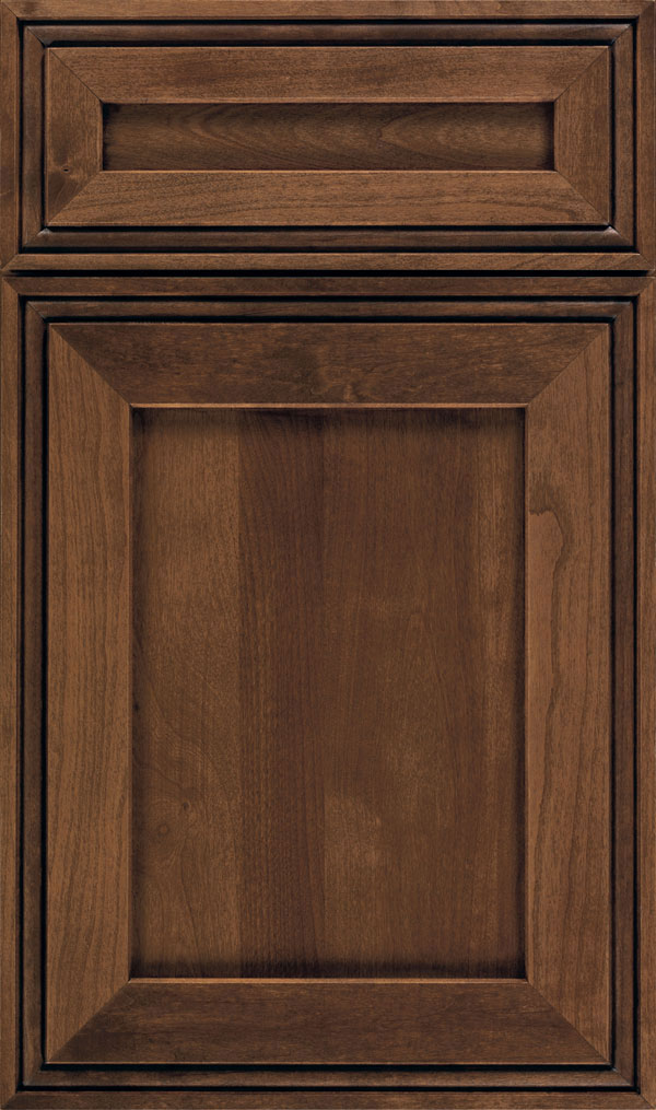 Daladier 5-Piece Cherry Recessed Panel Cabinet Door in Mink Espresso