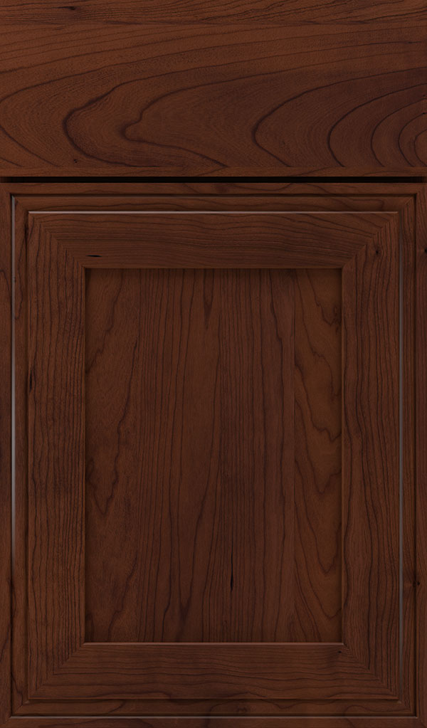 Daladier Cherry Recessed Panel Cabinet Door in Sepia