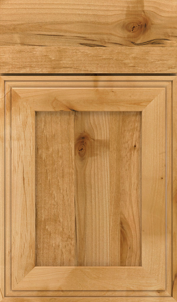 Daladier Rustic Alder Recessed Panel Cabinet Door in Natural