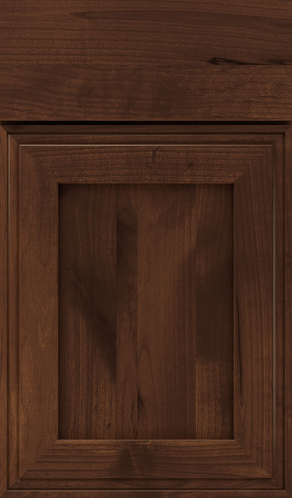 Daladier Rustic Alder Recessed Panel Cabinet Door in Sepia