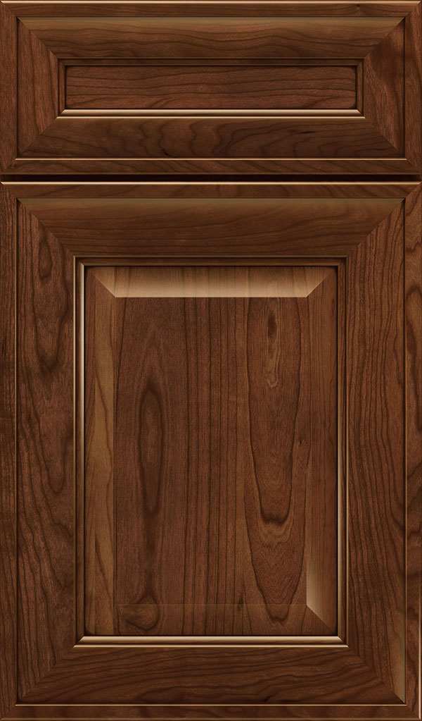 Davenport 5-Piece Cherry Raised Panel Cabinet Door in Arlington Espresso