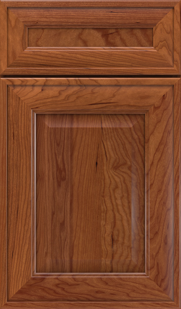 Davenport 5-Piece Cherry Raised Panel Cabinet Door in Brandywine