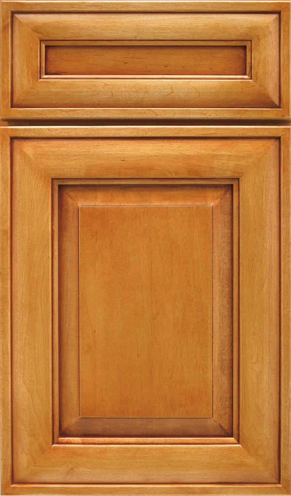 Davenport 5-Piece Maple Raised Panel Cabinet Door in Wheatfield Bronze