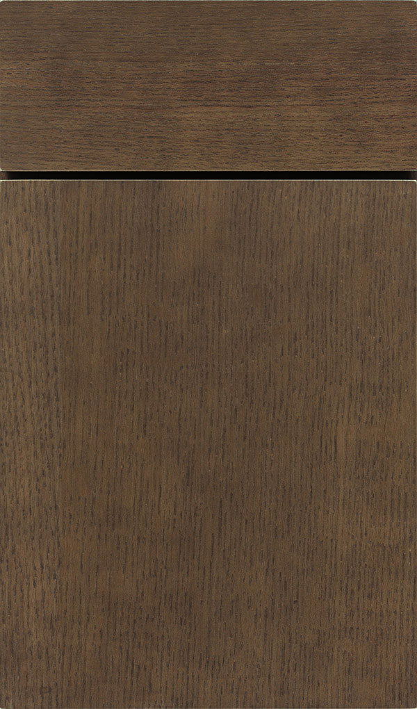 Della Oak Slab Cabinet Door in Kindling