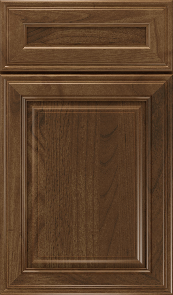Galleria 5-Piece Alder Raised Panel Cabinet Door in Mink