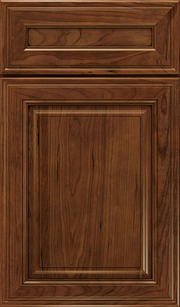 Galleria 5-Piece Cherry Raised Panel Cabinet Door in Arlington Espresso