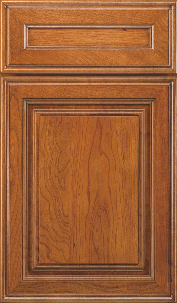 Galleria 5-Piece Cherry Raised Panel Cabinet Door in Natural Coffee