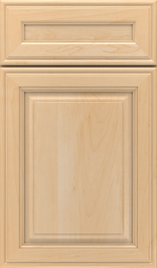 Galleria 5-Piece Maple Raised Panel Cabinet Door in Natural