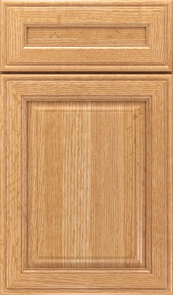 Galleria 5-Piece Quatersawn Oak Raised Panel Cabinet Door in Natural
