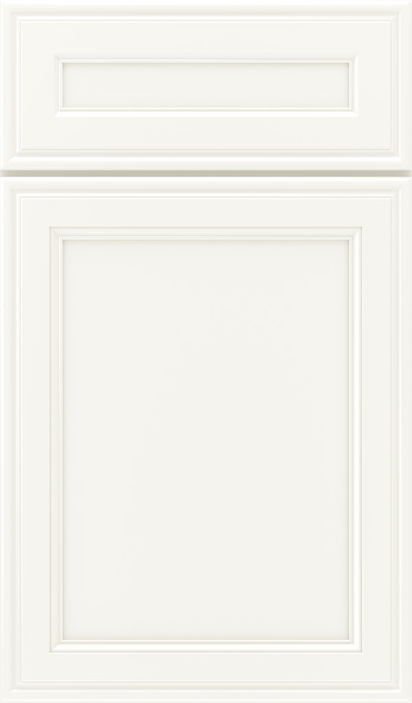 Girard 5-Piece Maple Raised Panel Cabinet Door in White