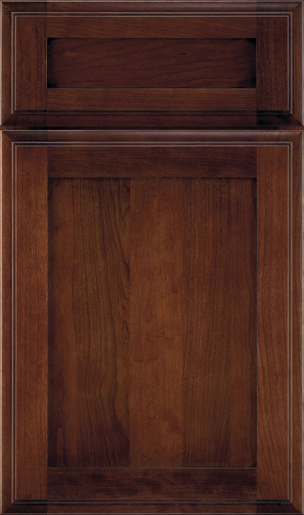 Harmony 5-Piece Cherry Shaker Cabinet Door in Arlington Espresso