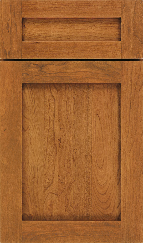 Harmony 5-Piece Cherry Shaker Cabinet Door in Sienna Coffee