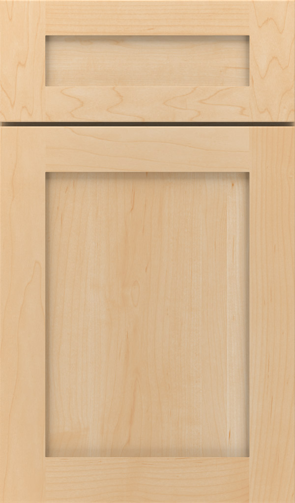Harmony 5-Piece Maple Shaker cabinet door in Natural