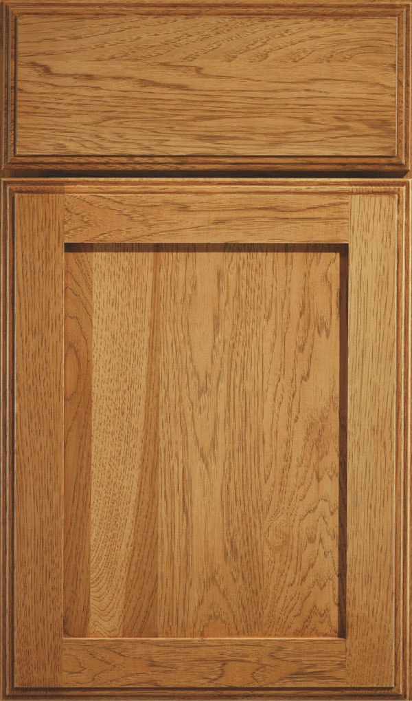 Harmony Hickory Shaker Cabinet Door in Coriander Coffee