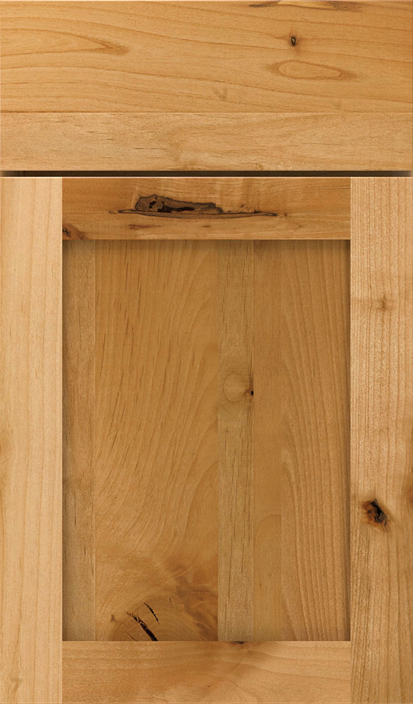 Harmony Rustic Alder Shaker Cabinet Door in Natural