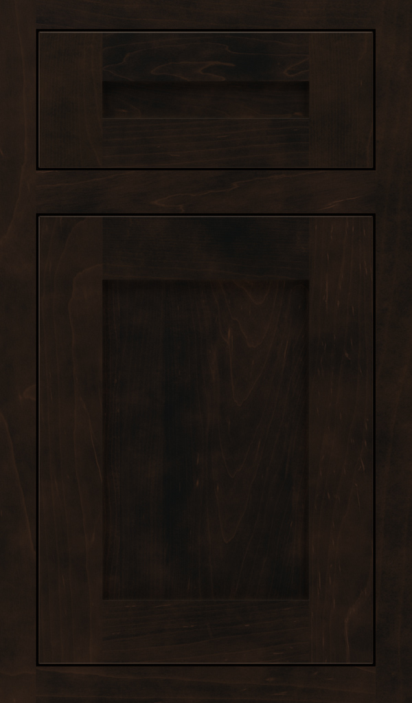 Harmony 5 Piece Maple Inset Cabinet Door in Teaberry