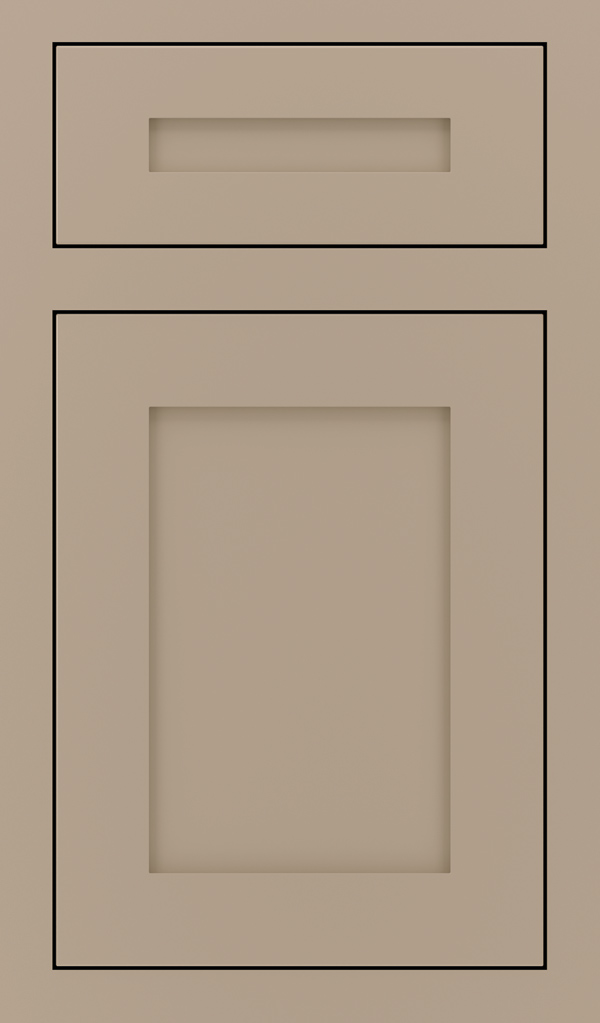 Harmony 5 Piece Maple Inset Cabinet Door in True Taupe