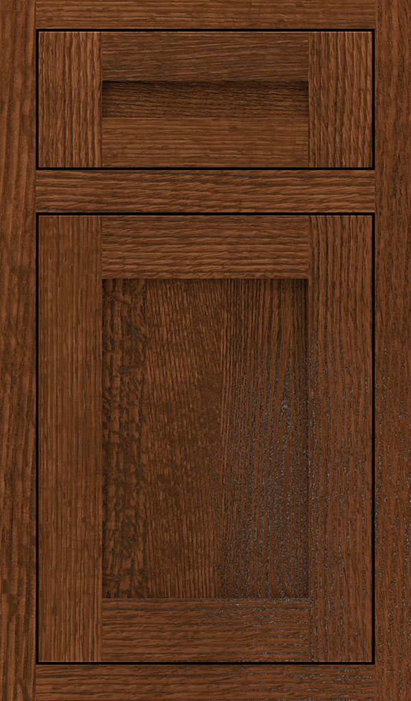 Harmony 5 Piece Quartersawn Oak Beaded Inset Cabinet Door In Sepia