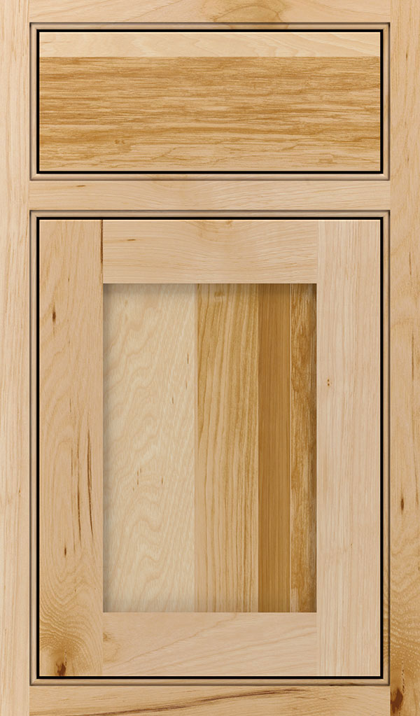 Harmony Hickory Beaded Inset Cabinet Door in Natural