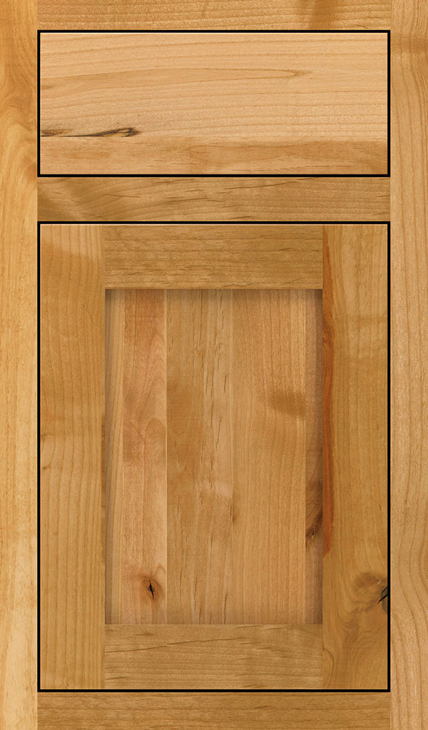 Harmony Rustic Alder Inset Cabinet Door in Natural