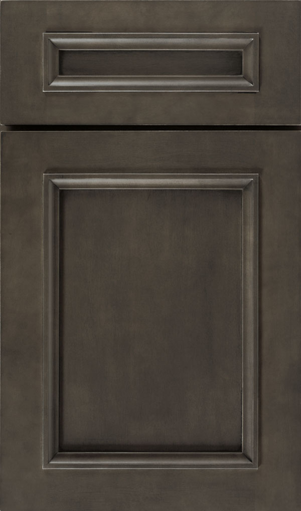 Haskins 5-Piece Maple recessed panel cabinet door in Shadow