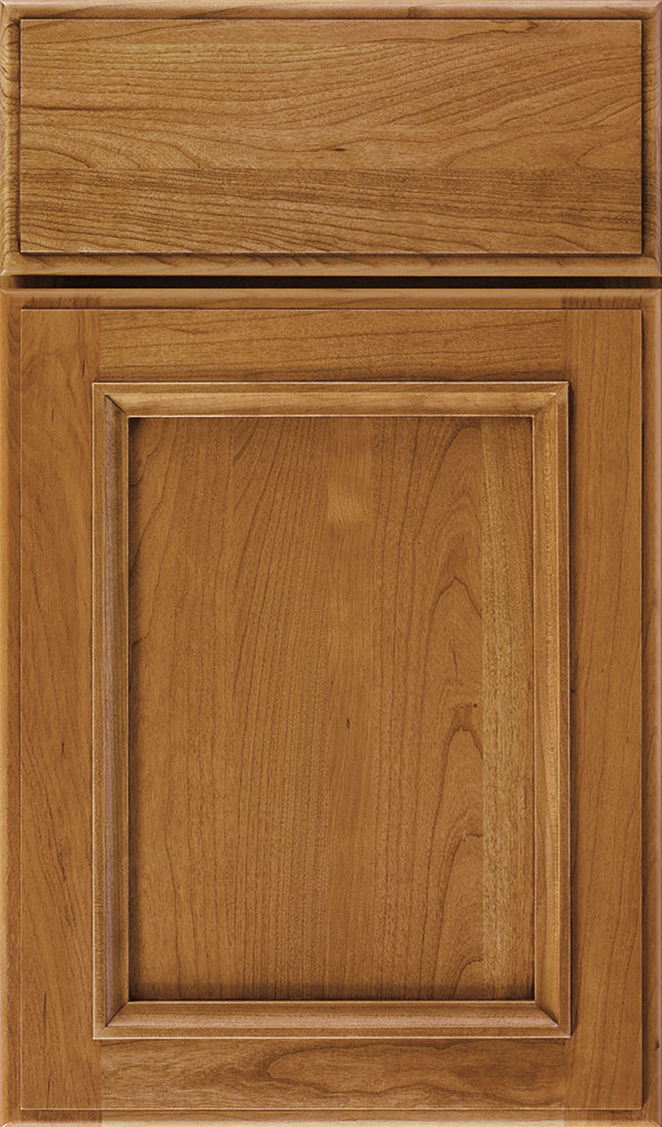 Haskins Cherry recessed panel cabinet door in Natural Coffee