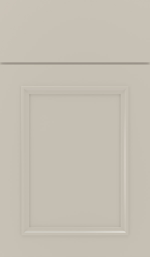 Haskins Maple recessed panel cabinet door in Mindful Gray