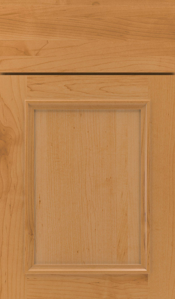 Haskins Maple recessed panel cabinet door in Pheasant