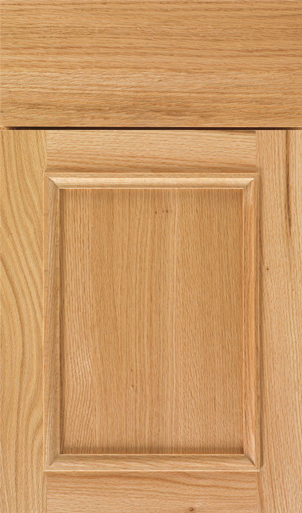 Haskins Quartersawn Oak recessed panel cabinet door in Natural